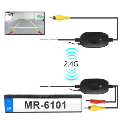 Funk 170° IR Einparkhilfe Rückfahrkamera kennzeichen Halter Wasserdicht IP67 12V