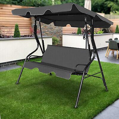 3 Seater Hammock Outdoor Garden Patio Metal Swing Chair Swinging Furniture Bench