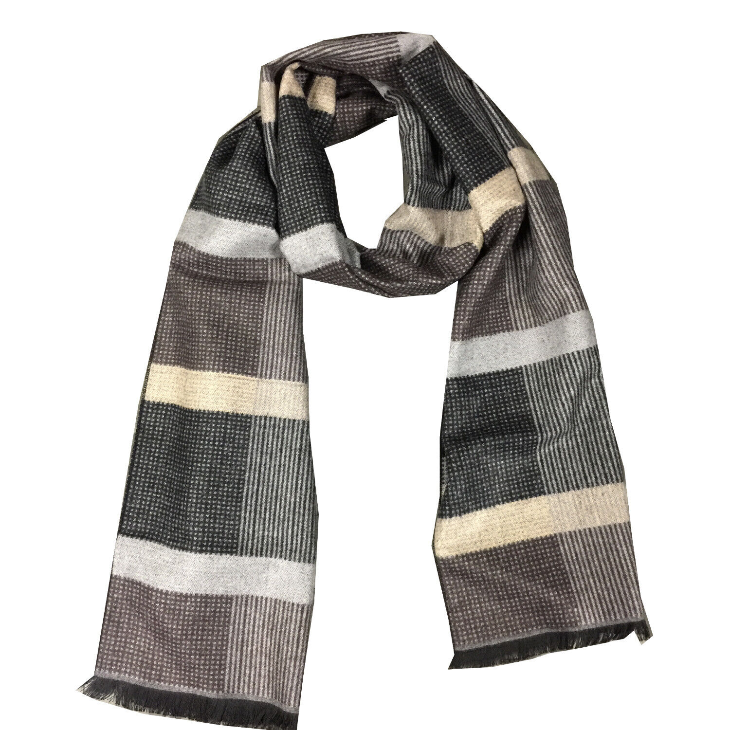 Men's Long Cashmere Feel Scarf, Fall and Winter Warm Scraf Clothing, Shoes & Accessories