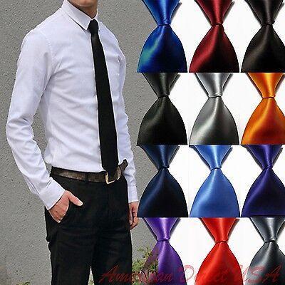 100% Woven Silk Necktie (Hot! Solid Plain Classic 100%New Silk Jacquard Woven Necktie Men's Tie )
