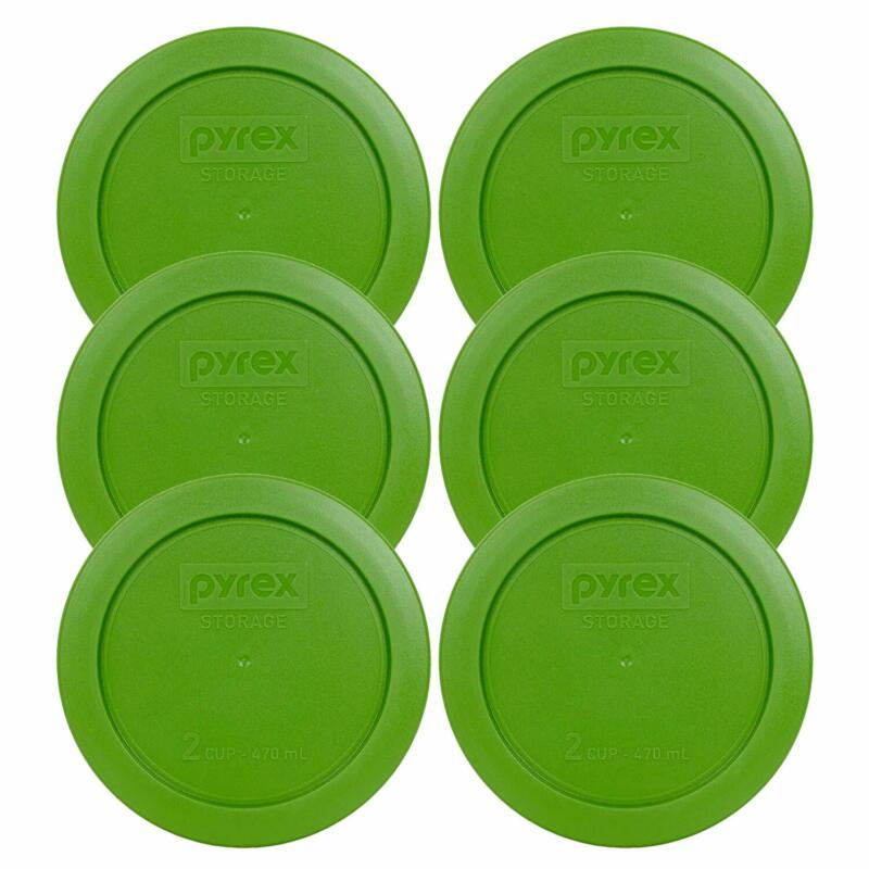 Pyrex Green 2 Cup Round Storage Cover #7200-Pc For Glass Bow