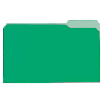 Universal File Folders 13 Cut One-ply Tab Legal Bright Greenlight Green 100