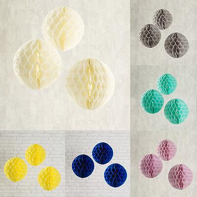 3-30x Wabenball Pompoms Honeycomb Party Hochzeits Deko Papier Kugel Lights4fun