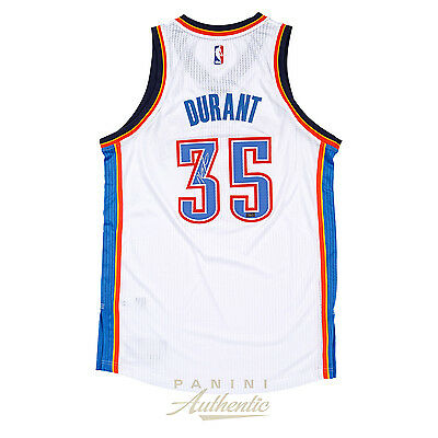 Kevin Durant Autographed White Oklahoma City Thunder Authentic Adidas Jersey 7b1b4d340