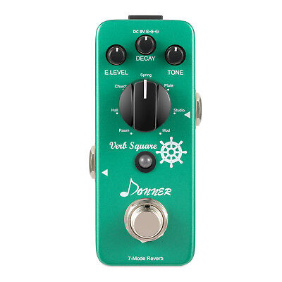 Best Digital Reverb Guitar Effect Pedal Verb Square 7 Modes Local