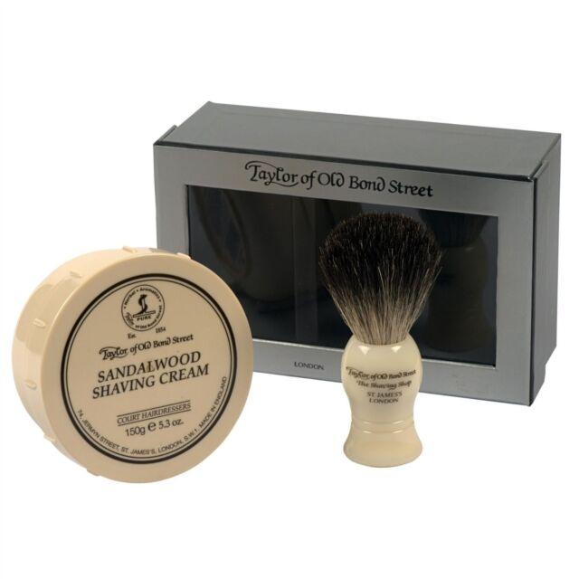 Taylor Of Old Bond Street Sandalwood Shaving Cream & Badger Brush Gift Set 00206
