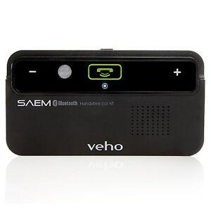 NEW Veho VBC-001-BLK Saem S1 Bluetooth Handsfree Car Kit for Mobile Phone