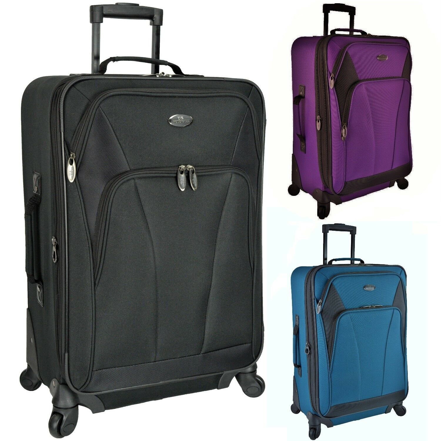 "US Traveler Saratoga 24"" Medium Checked Expandable Spinner L"