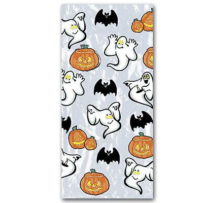 Halloween Pumpkin & Ghost Cello Bags 25 Pieces