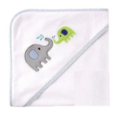 Luvable Friends Hooded Towel , Blue Elephant
