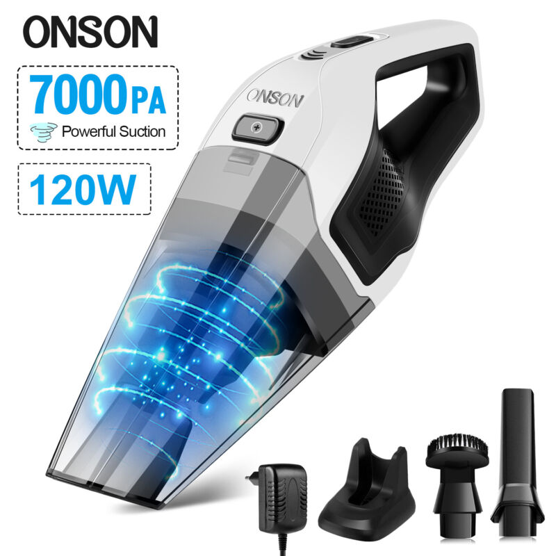 120w High Power Rechargeable Cordless Wet & Dry Portable Car Home Vacuum Cleaner