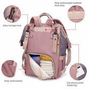 Mommy Baby Diaper Bag Large Capacity Nappy Backpack Waterproof + STROLLER HOOK