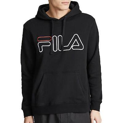 Fila Men's Prati Hoodie Black-Chinese Red-White LM183379-001