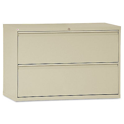 Alera Two-drawer Lateral File Cabinet 42w X 19-14d X 28-38h Putty Lf4229py