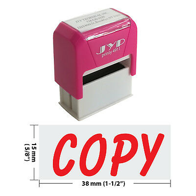Copy Self Inking Rubber Stamp - Jyp 4911r-03 Red Ink