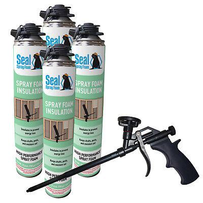 Seal Spray Closed Cell Insulating Foam Can Kit Wgun Foam Applicator 100 Bf