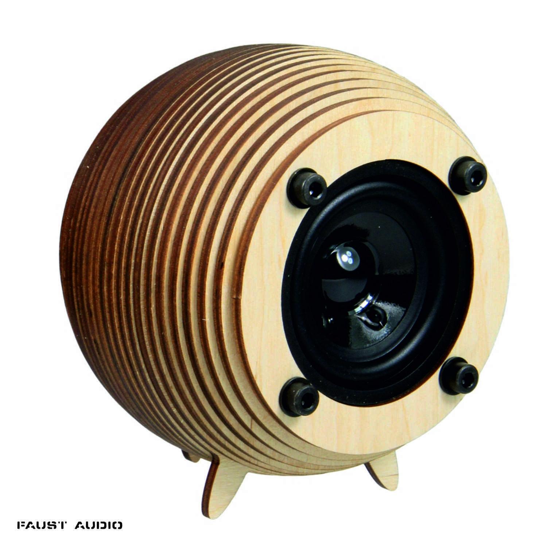 Bausatz für hochwertigen Kugellautsprecher aus Holz 10cm – alle Teile enthalten