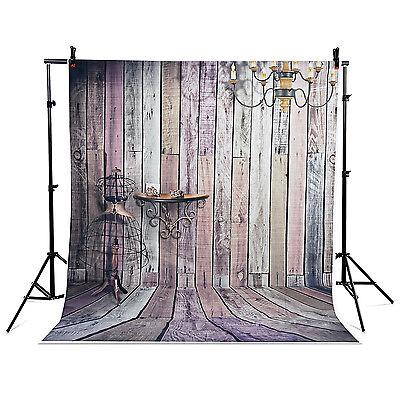 5x7ft Photography Backdrops Camera Studio Background  Wood floor droplight wall