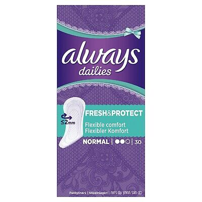 lot 3 x 30 Protège-slips Fresh & Protect normal ALWAYS