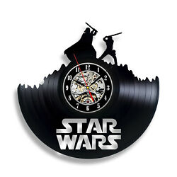 Boba Fett Star Wars Vintage Figurines Dead Art Decor Clock Style Gift Handmade