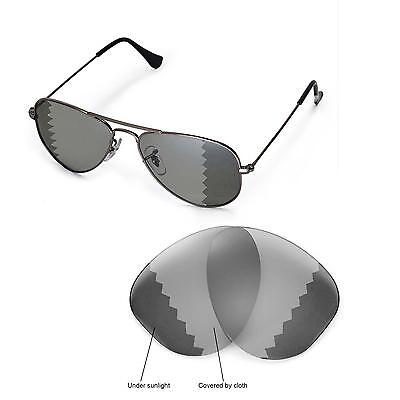 New WL Polarized Transition Lenses For Ray-Ban Aviator RB3044 Small Metal 52mm (Aviator Small Metal)