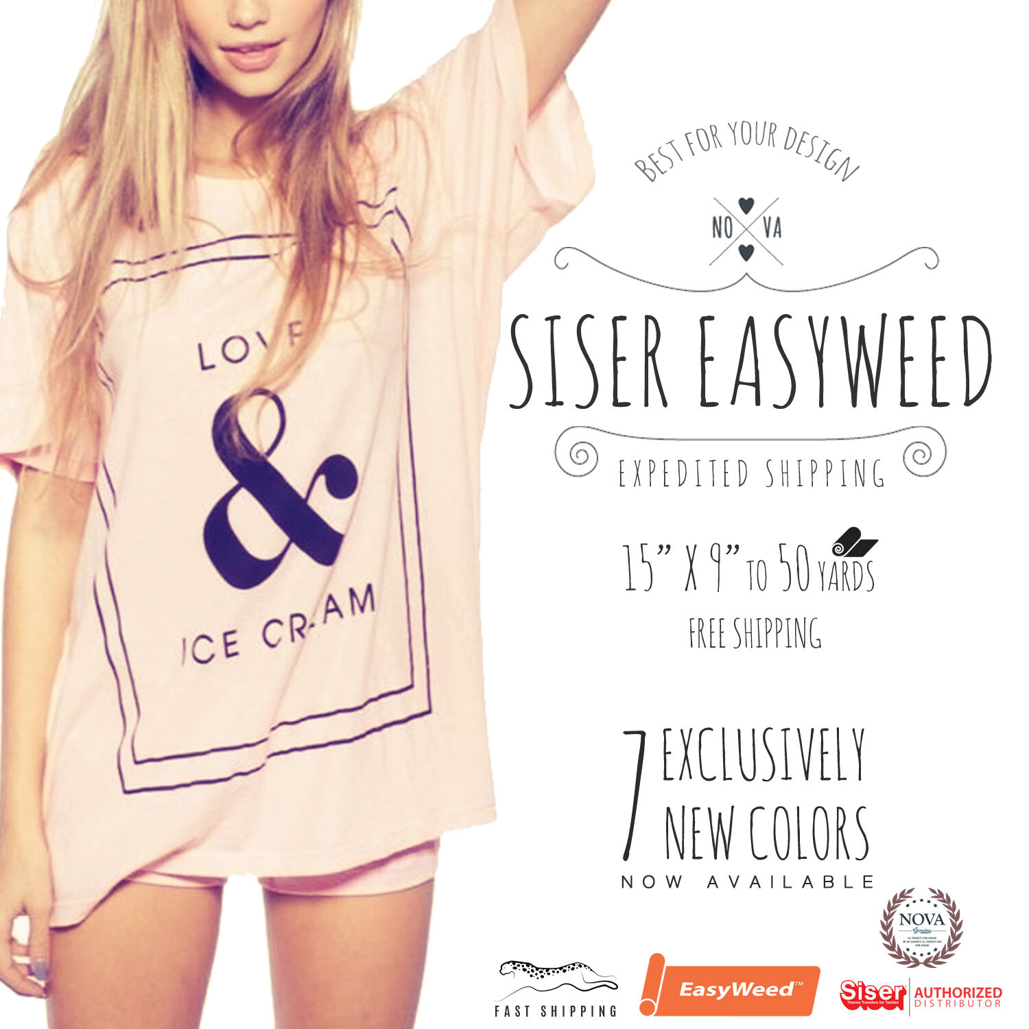 "Siser Easyweed IRON-ON Heat Transfer Vinyl 15"" x 9"", 12"", 1,"
