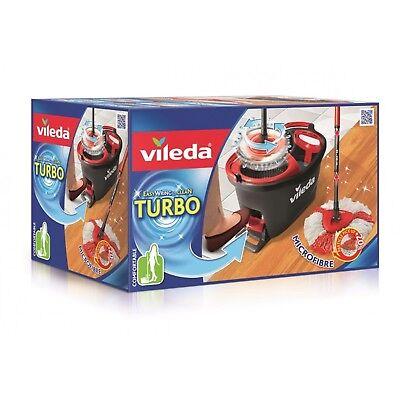 Wischmop Vileda Turbo EasyWring & Clean Komplettset Eimer