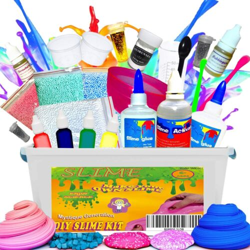 Slime Kit Making Supplies Fluffy Crystal Glitter Clay Mud For Girls & Boys DIY