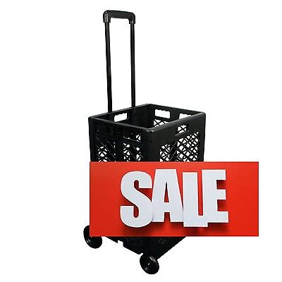 Portable Rolling Shopping Cart Basket Storage Folding Wheel Utility Grocery