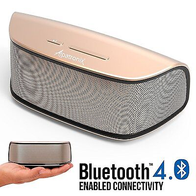 Alpatronix 10W Rechargeable Portable Mini Wireless Bluetooth Stereo Speaker Bass