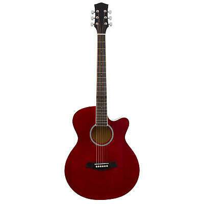 Red Electro Acoustic Guitar for Beginners