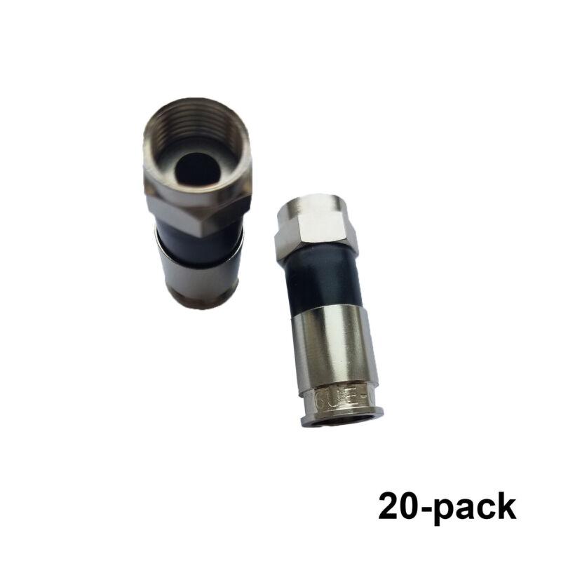 Bag Of 20 Perfect Vision Pv6ue-05 Ridgeloc Compression Connectors Rg6 Coax Cable