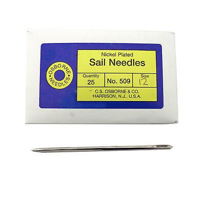 C S  Osborne Pack Of 25 Triangular Point Sail Needles  509  Size 12 Gauge