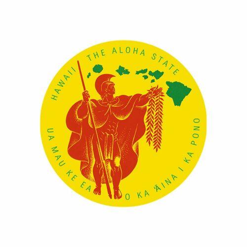 Aloha State King Kamehameha Hawaiian Islands Sticker Decal from Hawaii