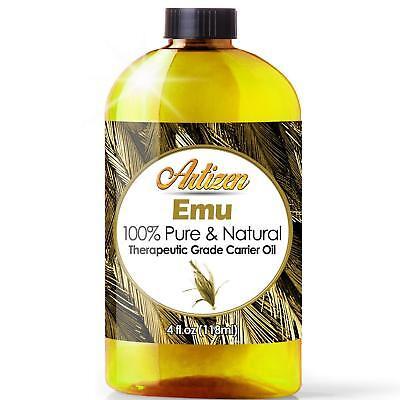 100% PURE Emu Oil by Artizen (Huge 4oz Bottle) - Premium Skin & Hair Moisturizer
