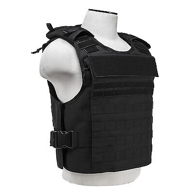 NcStar BLACK Plate Carrier w/External Hard Plate & Internal Soft Plate Pockets
