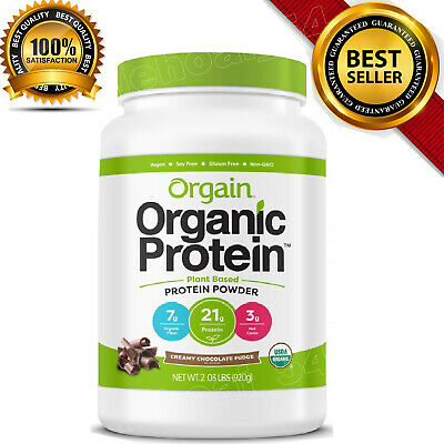 Organic Drinking Chocolate - Orgain Organic Plant Based Protein Powder Creamy Chocolate Fudge 2.03 LBS (920g)