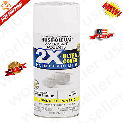 Rust-Oleum 327874 American Accents Spray Paint, Gloss White ()