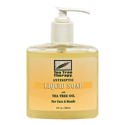 NEW TEA TREE THERAPY TEA TREE ANTIBACTERIAL LIQUID SOAP (8 OZ)