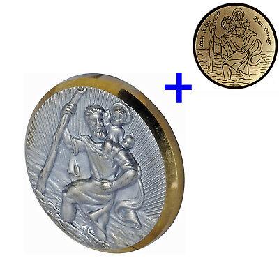 2er Set Plakette St. Christophorus Schutzpatron HR 10210101 Christopherus