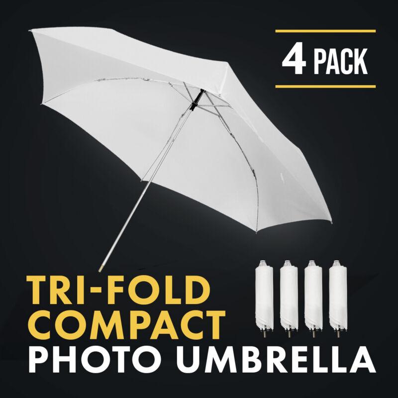 """[4 pc] Photography 33"""" Tri-fold White Umbrella Reflector Softbox Light Diffuser"""