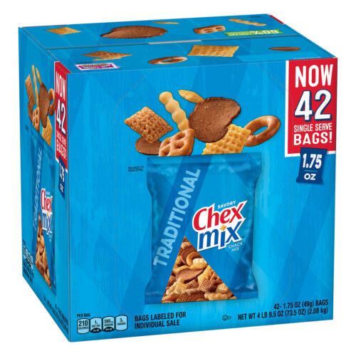 Chex Mix Traditional Savory Snack Mix (42 pk.)Hot Sale!BRAND NEW