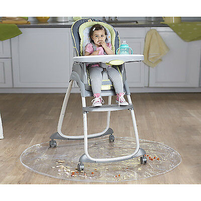 - Clear Plastic Splat Mat 50in Round High Chair Feeding Floor Protector Cover New