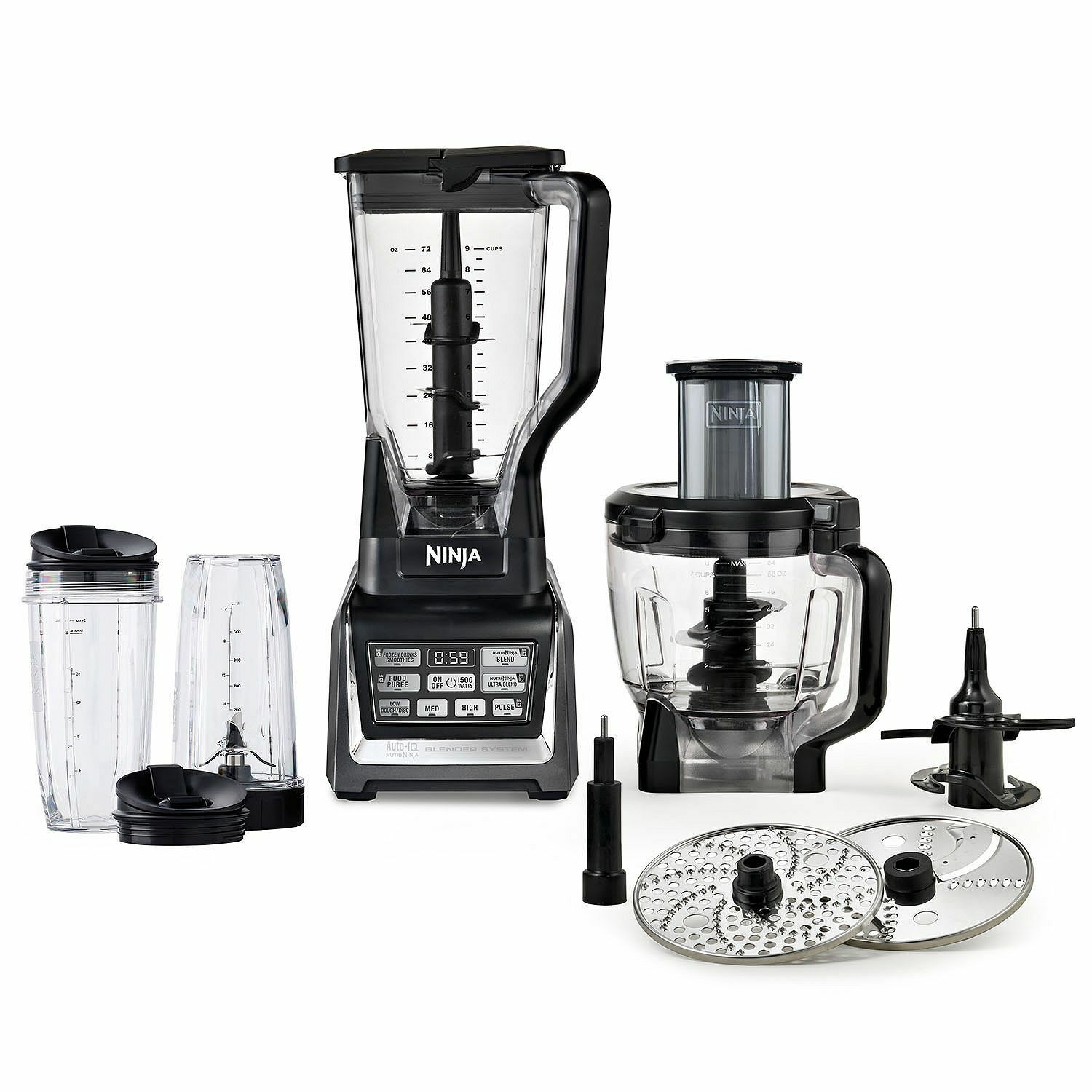 nutri ninja 1500w auto iq bl681a blender food processor juicer 2 hp motor ebay. Black Bedroom Furniture Sets. Home Design Ideas