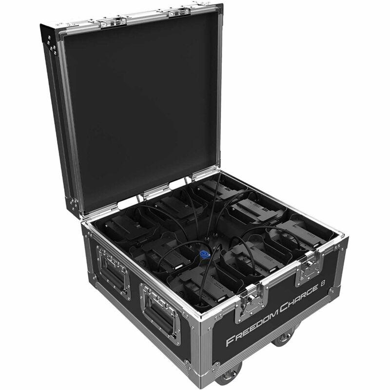 Chauvet DJ Freedom Charge 8 Compact Par Light Fixture Charging Hard Road Case