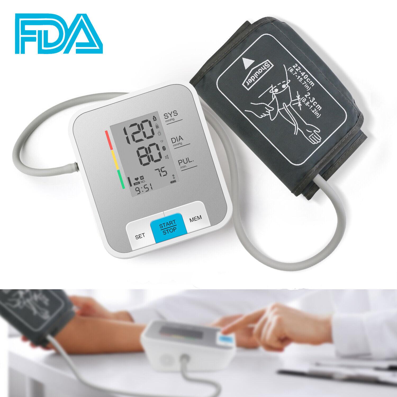 Auto Arm Blood Pressure Monitor Automatic Digital BP Cuff Gauge Heart RateTester Blood Pressure Monitoring