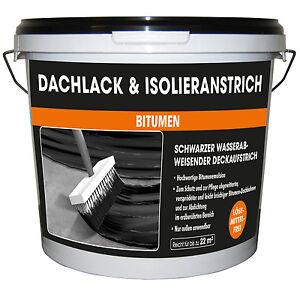 Dachlack & Isolieranstrich MEM 10 Liter Bitumenanstrich Kaltanstrich schwarz NEU