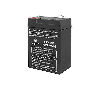 Gel Akku AGM Batterie 6V 4Ah Gelakku Ersatzakku CSSB Wartungsfrei Starlight ()