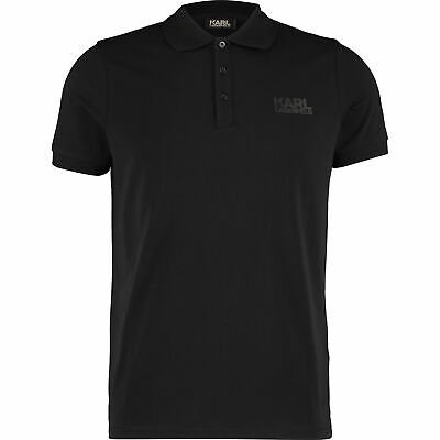 KARL LAGERFELD Designer Men's Black Logo Polo Shirt Sz:  M, L