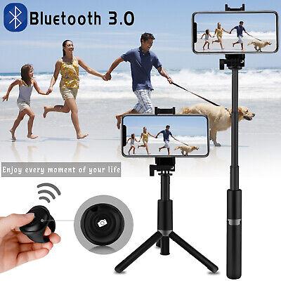 For Samsung Note 10+/9 S20/10 Plus Bluetooth Tripod Selfie Stick Wireless Remote